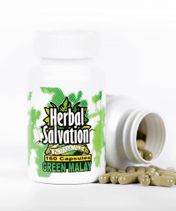 Herbal Salvation Green Malay Kratom Capsules