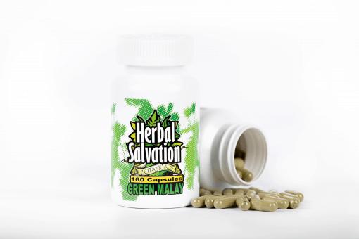 Herbal Salvation Green Malay Kratom Capsules