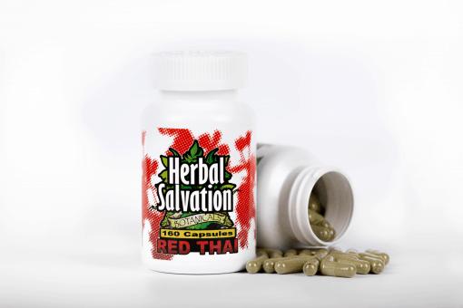 Herbal Salvation Red Thai Kratom Capsules