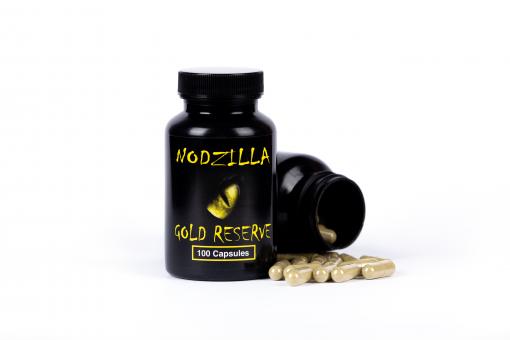 Nodzilla Gold Reserve Kratom Capsules
