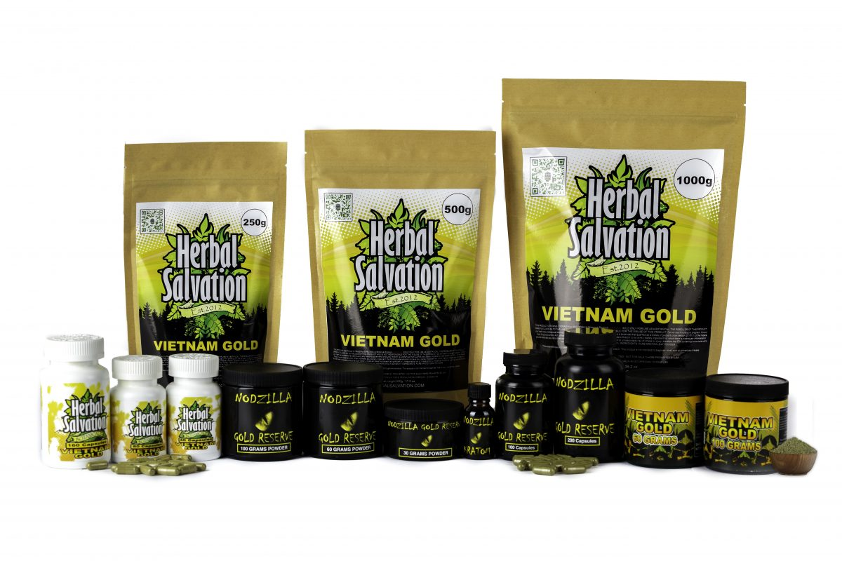 Herbal Salvation Kratom Gold Series